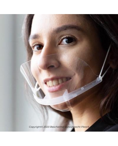 1x Transparant mondkapje – Doorzichtige mondkapjes - Pless® - Met extra reinigingsdoekje