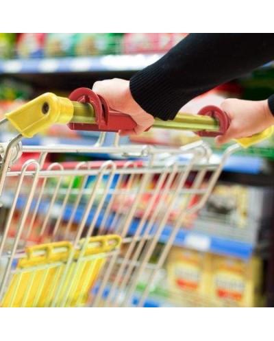 CLIPEEZ afneembare handvatten voor uw winkelwagen geel.