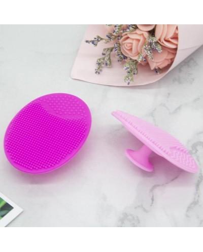 Gezichtsborstel - Siliconen gezichtsreinigingsborstel - Daily Scrubber - Huidverzorgingsbrush -  Anti-acne  - Roze (1 stuk)