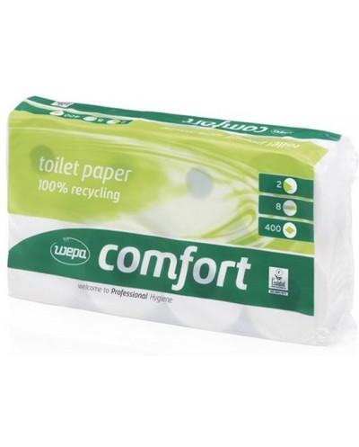 Wepa Comfort toiletpapier, 2-laags, 400 vel, pak à 8 rol